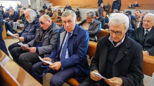 Rimini, Ancelotti ai funerali di Albero Bucci (Foto Bove)