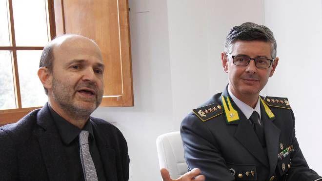 Il rettore Pietro Cataldi e il comandante Antonio Marra