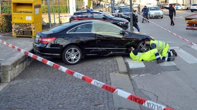 Noventa Vicentina, la Mercedes della donna uccisa (Ansa)