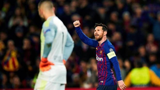 L'esultanza di Messi (Ansa)