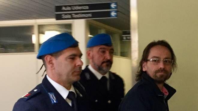 L'arrivo di Claudio Pinti in tribunale