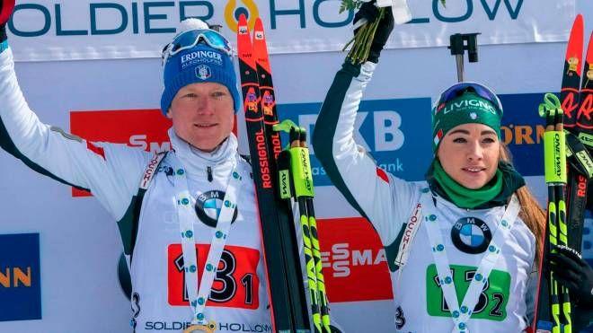 Wierer e Hofer medaglia d'argento nella staffetta mista singola
