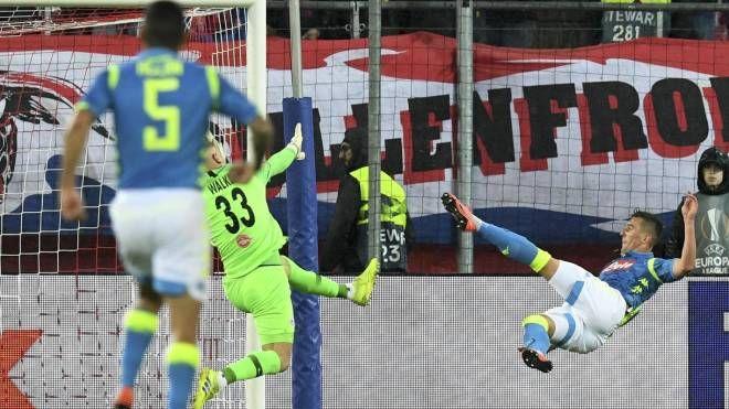 Il gol di Milik (Ansa)