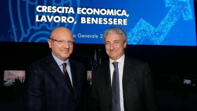 Presidente di Confindustria Boccia con il numero uno di Aib, Pasini