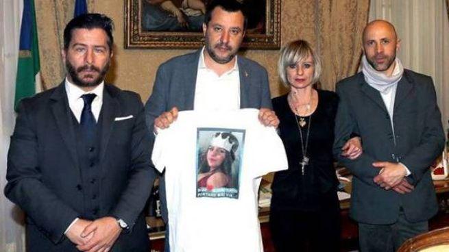 Il vicepremier Matteo Salvini ha incontrato i genitori di Pamela Mastropietro (Dire)