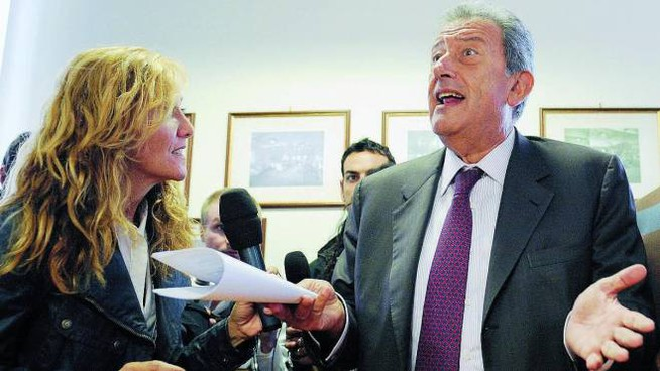L'ex ministro Augusto Fantozzi. A destra, Philip Laroma Jezzi