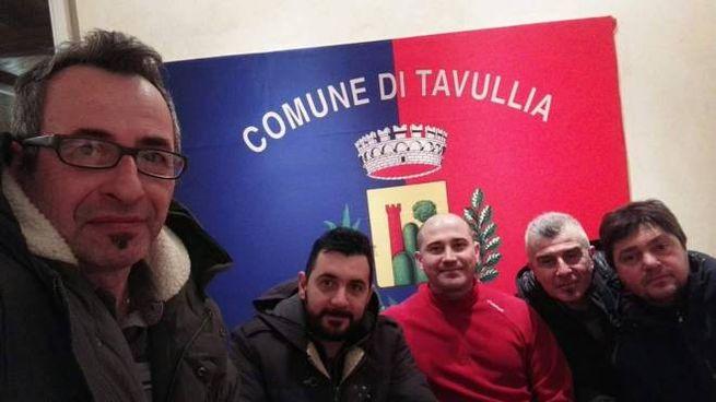 I consiglieri comunali Banini e Bacchini e alcuni attivisti M5s