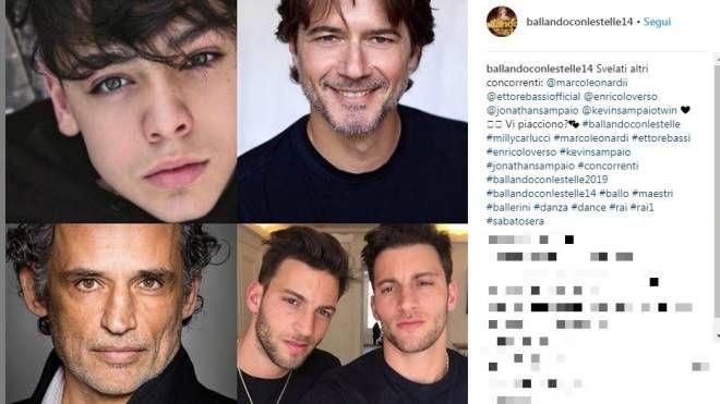 I concorrenti di 'Ballando con le stelle 2019' (Instagram)