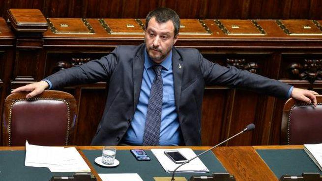Matteo Salvini in Aula (ImagoE)