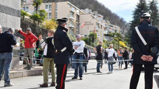 La protesta a Campione d'Italia (foto Cusa)