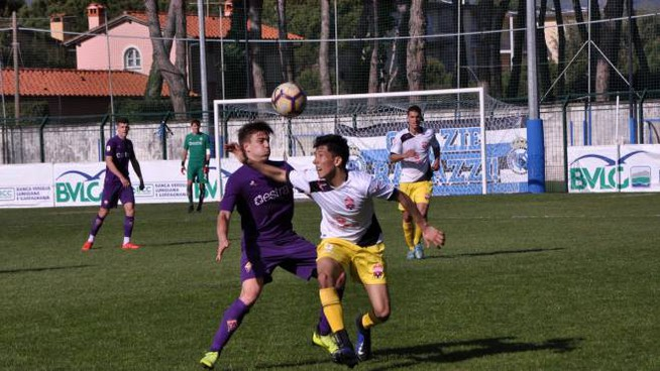 Un momento della sfida tra Fiorentina e Westchester United (Foto Umicini)