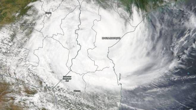 Il ciclone tropicale Idai fotografato dalla Nasa