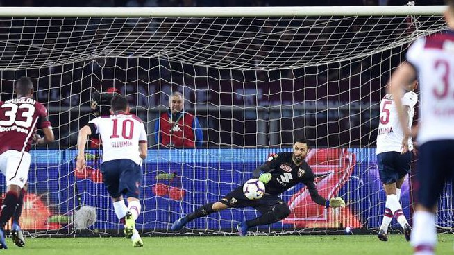Pulgar segna il 2-1 per il Bologna (Ansa)