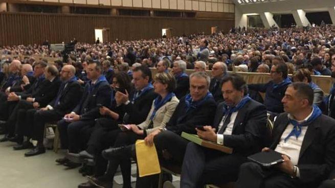La platea che ha preso parte all'udienza