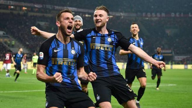 Milan-Inter, l'esultanza di De Vrij (LaPresse)