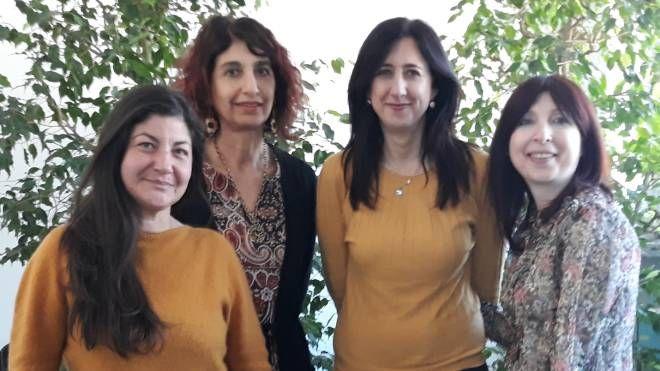 Da sinistra: Alessandra Zappatore, Elisabetta Battiliani, Claudia Resta e Paola Paiano, le curatrici del progetto