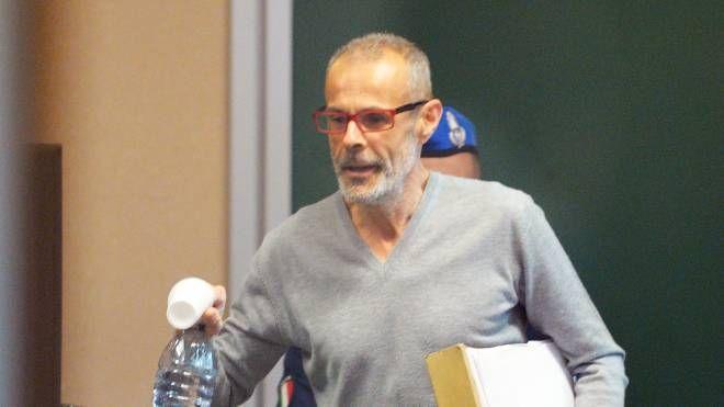 Roberto Cazzaniga in tribunale a Busto Arsizio