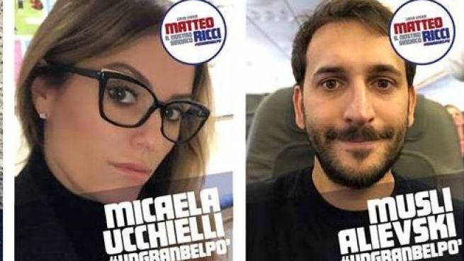 Alcuni dei candidati nella lista 'Matteo Ricci sindaco'