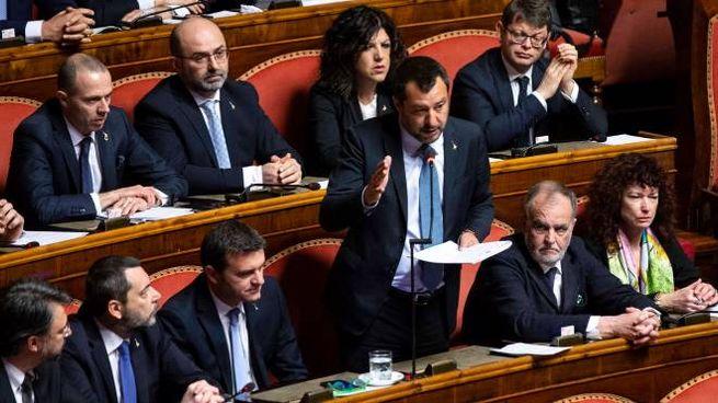 Caso Diciotti, Salvini parla in Aula al Senato (ImagoE)