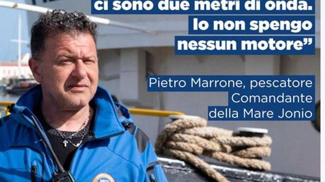 Il comandante della Mare Jonio, Pietro Marrone (Facebook/Ansa)