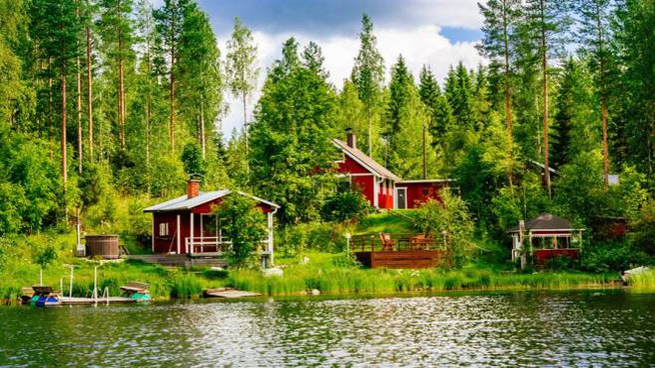 La felicità secondo i finlandesi: un cottage con sauna nel bosco