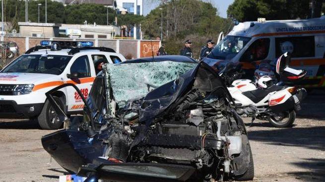 L'auto della vittima (Foto Nizza)
