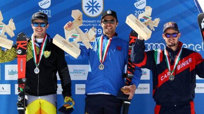 Il podio dei campionati italiani (foto Fisi)