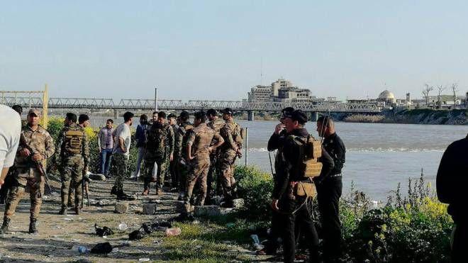 Mosul, tragedia nel fiume Tigri (Ansa)