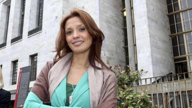 Imane Fadil davanti al tribunale di Milano (Ansa)