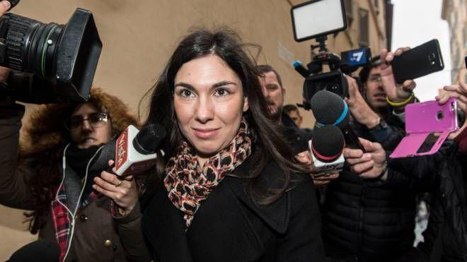L'onorevole riminese Giulia Sarti al centro  dello scandalo legato alle foto hard rubate