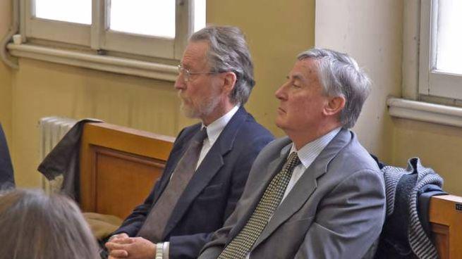 Gli  imputati Michele Cardinale, (con la barba a sinistra ) e Lorenzo Mo