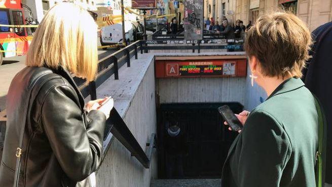 Inagibile la fermata Barberini della metro di Roma (Lapresse)