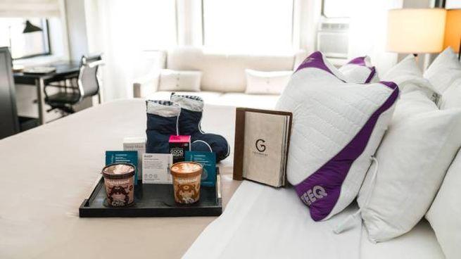 La Sleep Room dell'hotel The Gregory (Foto Facebook/thegregorynyc)