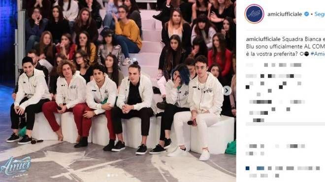 La squadra bianca di 'Amici 18' (Instagram)