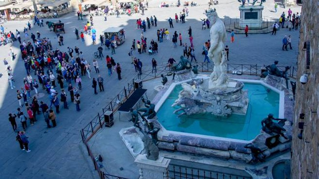 La Fontana del Nettuno a Piazza della Signoria