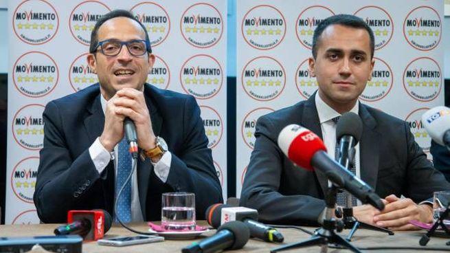 Luigi Di Maio e Antonio Mattia, candidato alla presidenza della regione Basilicata (Ansa)