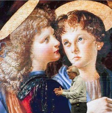 """Vittorio Sgarbi in un passaggio dello spettacolo """"Leonardo"""""""