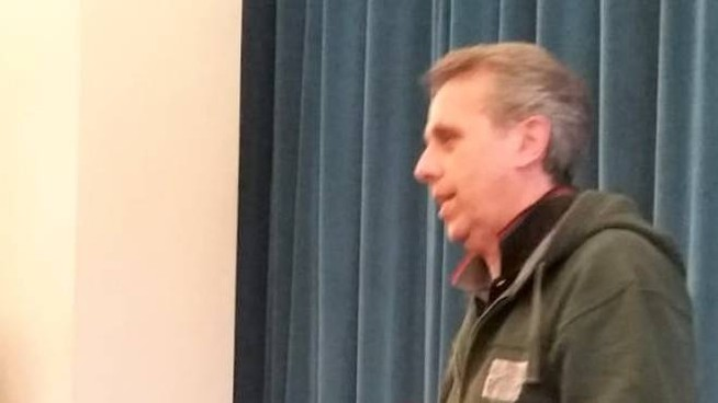 Paolo Mangini, relatore durante un convegno