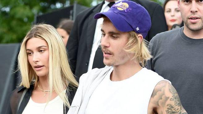 Justin Bieber e Hailey Baldwin (Afp)