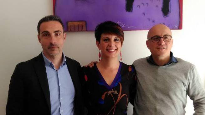 I rappresentanti della Cgil spezzina, con la segretaria Lara Ghiglione