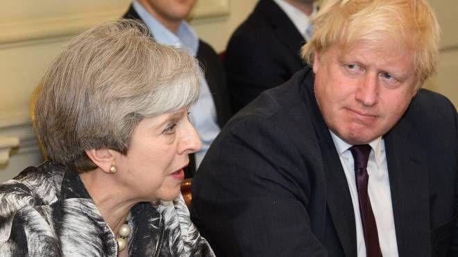 Theresa May e Boris Johnson (Afp)