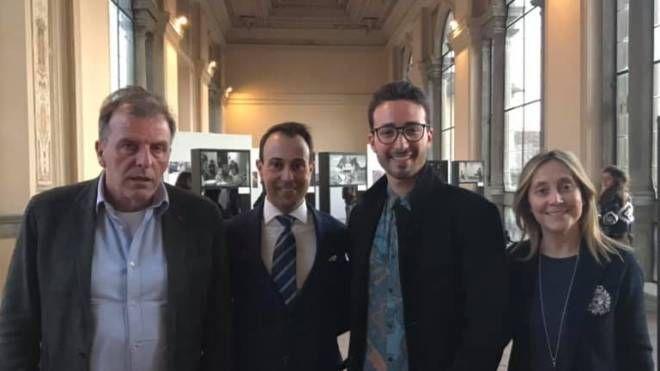 L'inaugurazione con Ferrucci, Borrelli, Casalini e Rossi