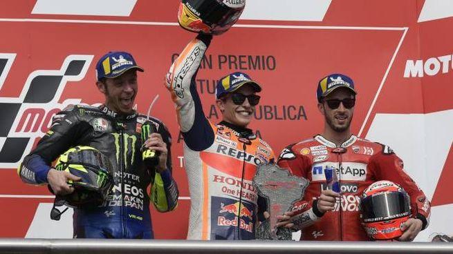 Gp di Argentina: Marquez, Rossi e Dovizioso sul podio (LaPresse)