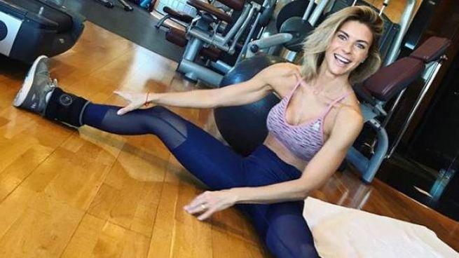 Martina Colombari in palestra (foto da Instagram)