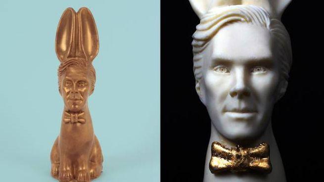 Benedict Cumberbatch in versione coniglio pasquale - Foto: chocolatician.com