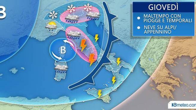 Previsioni meteo, svolta gelida