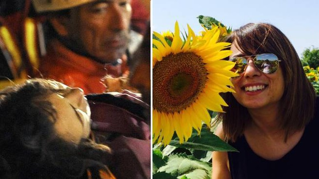 Marta Edda Valente estratta viva dopo le macerie il 6 aprile 2009 e oggi