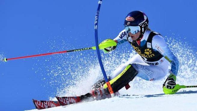 Una gara di sci delle Olimpiadi invernali dello scorso anno