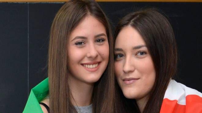 Beatrice Alparone ed Elisa Cuozzo, studentesse del  Gadda