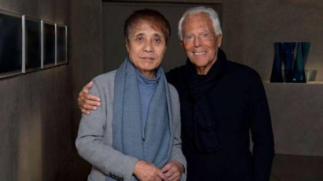 Giorgio Armani con l'architetto giapponese Tadao Ando